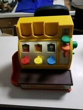 Vintage 1974 Fisher Price Cash Register w/ Coins, Collectible, Educational