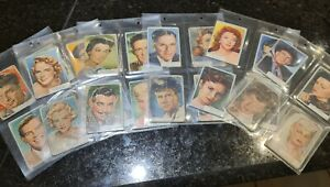 Famous Actors - Rare and collectable Actors Cards Complete Set of 48 Cards