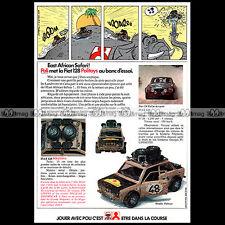 POLITOYS FIAT 128 EAST AFFRICAN SAFARY 1973 - Pub / Publicité / Ad Advert #A1490