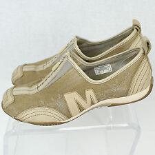 Merrell Barrado Sport Beige Women Fashion Sneaker Floral Zip Shoe Sz 8 1/2 EUC
