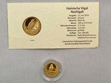 20 EURO Goldmünze - Nachtigall aus 2016 - Heimische Vögel - Prägestätte G