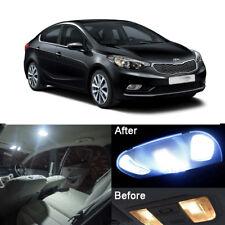 Xenon White LED Interior Light Kit Room Lamps For Kia Forte K3 2013-2015 (9pcs)