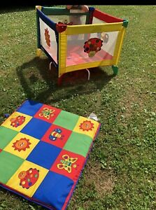 Graco Pack 'n Play Portable play yard mesh primary colors playpen