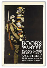 Books Wanted Military Sign 12X18