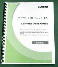 Canon PowerShot IXUS 220 HS Instruction Manual: 212 Pages & Protective Covers