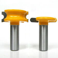"2 pc 1/2"" SH 1/4"" Dia. Canoe Flute and Bead Router Bit"