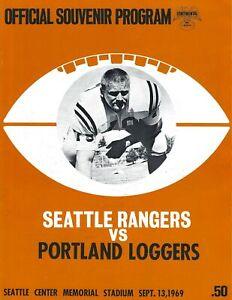 1969 Seattle Rangers vs. Portland Loggers Continental Football League Program