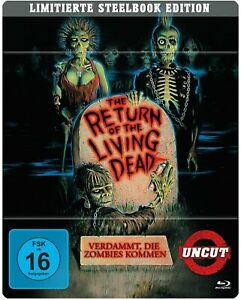 The Return of the Living Dead (1985) Steelbook Blu Ray Uncut Import New/Sealed