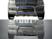 BGT 2003-2015 LINCOLN NAVIGATOR FRONT BULL BAR WITH PLATE BUMPER GUARD S/S