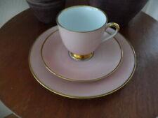 Fürstenberg Fürstin Jazz 3 teiliges Kaffeegedeck rosa Goldrand -t opp