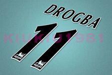 Chelsea Drogba #11 PREMIER LEAGUE 97-06 Black Name/Number Set