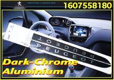 PEUGEOT 208, 2008, 308 Einstiegsleisten, Schwellerleisten Aluminium Dark-Chrome