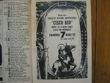 1956 TV Guide (THE  CISCO KID/LORETTA YOUNG/JACK WEBB/BRAVE EAGLE/BREAK THE BANK