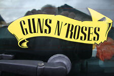 "2  GUNS n ROSES    8"" DECALS/STICKERS  MUSIC GUITAR ROCK BANDMOTORBIKE HELMETS"