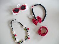 NWT GYMBOREE CHERRY CUTE SUNGLASSES POLKA DOT BRACELET NECKLACE BTS YOU PICK
