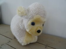 Peluche range pyjama doudou mouton blanc et beige, yeux bleus parfait état