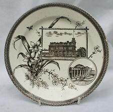 WALLIS GIMSON MB & Co Pottery The World Series Rd No 7624 Plate Toronto Boston
