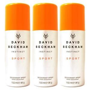 David Beckham Instinct Sport Deodorant Spray 150ml x 3