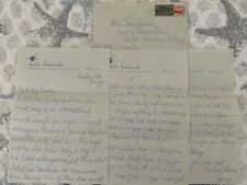 RARE letter from JERRY LEWIS to wife PATTI LEWIS 1952