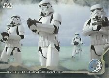 "Star Wars Rogue One Series 1: #26 ""Defense of Scarif"" Black Parallel Base Card"