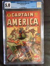 CAPTAIN AMERICA COMICS #43 CGC VG/FN 5.0; CM-OW; Human Torch story!