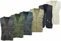 Multi Pocket Utility Jacket Vest Waistcoat Gilet Sizes S - 3XL 5 Colours Fishing
