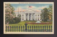 1943 postmark The White House home of the Presidents in Washington DC Postcard