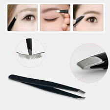 Portable Eyebrow Tweezer Slanted Stainless Steel Trimmer Clip Hair Removal Tool