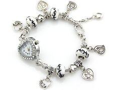 1pcs Charm Crystal Watch Bracelet Fit European Bead 20cm FreeShip WP023