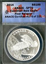 Canada Coin 2014 Silver Bald Eagle 100 Dollar ANACS SP70 NO RESERVE!