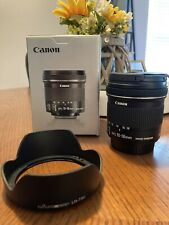 Canon EF-S 10-18mm F/4.5-5.6 IS STM Lens With Lens Hood