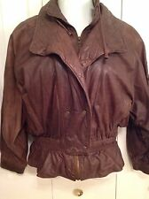 WOMEN'S LRG BROWN LEATHER JACKET/COAT THINSULATED by ADVENTURE BOUND MSRP $279.