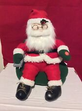 Animated Santa Claus Sitting In His Favorite Chair Talking On Cell Phone Dandee