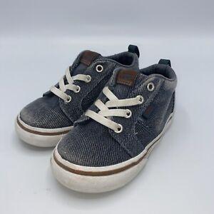 Vans Off The Wall Infant/toddler Boys Navy Blue Denim Shoes size 7 Skull