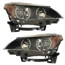 New Depo Halogen Headlight Assembly Set for 04-07 BMW 525i 530i 550i LH RH Side