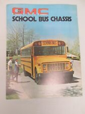 1976 GMC School Bus Chassis Dealer Sales Brochure Single Sheet