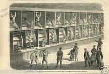 Treadmill Prison Cold-bath-fields London Londres England UK GRAVURE PRINT 1867