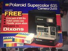 Polaroid Camera super colour ICONIC 80S VGC **Film BOX CASE MANUAL inclusive*
