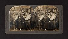 Keystone WWI military stereoview happy reunion for home-coming soldier fathers