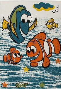 Fish and Sea Theme Multicolor Adorable Durable Kids Area Rug Carpet MKDS1069