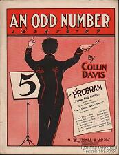 1904 Collin Davis Piano Sheet Music (An Odd Number)