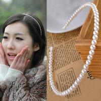 Elegant Women Wedding Charm Pearl Hair Hoop Band Headband Hairpin Bride Jewelry
