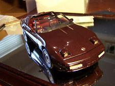 Franklin Mint 1/24 1993 Maroon Chevrolet Corvette W/ Top No Docs Very Nice
