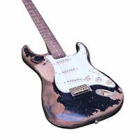 Electric Guitar Handmade Heavy Relic Alder Body Alnico Pickups White Pickguard