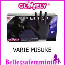 GlovelyGuanti monouso in nitrile senza polvere neri  BIOSOFT BLACK Varie Misure