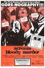 Scream Bloody asesinato Cartel 01 A2 Caja Lona Impresión