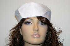 white chefs adjustable rear strap  skull cap hat  pack of 12