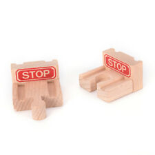 1 Set Wooden Train Stop Track Railway Accessories Compatible All Major Brands WL