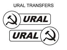 Ural Tank & Sidecar Transfers Decals Motorcycle DURAL7 Black