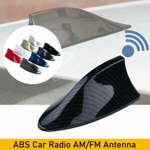 Carbon Fiber Style Shark Fin Car Roof Antenna Aerial FM/AM Radio Signal Decor